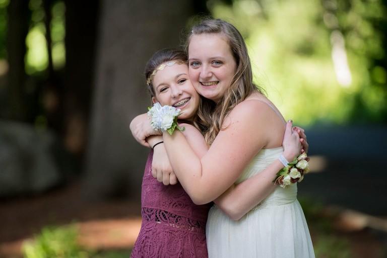 girls posing for photo shoot before dance