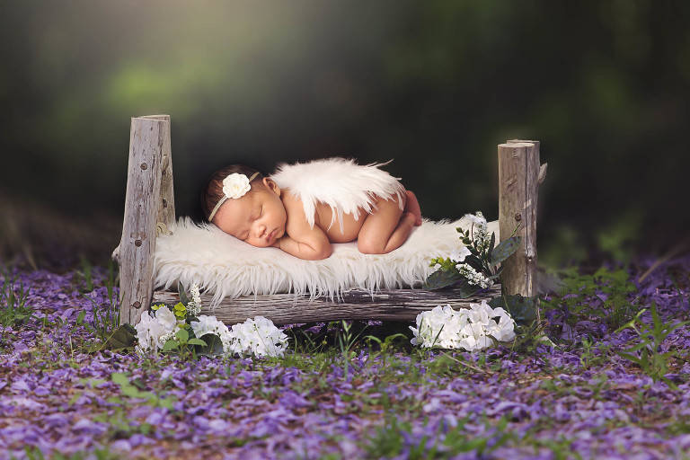 Newborn creative portrait