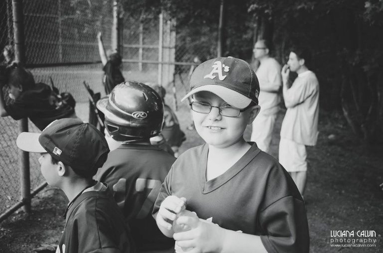 boy on baseball game