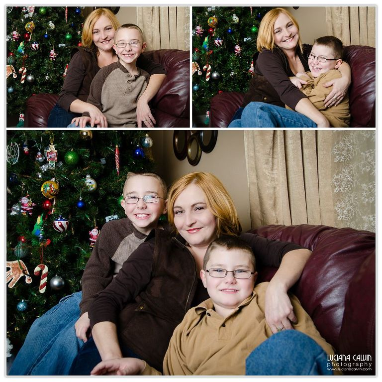 Family Collage Christmas portrait