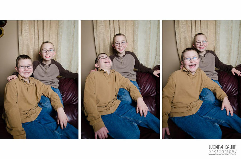 two boys being silly