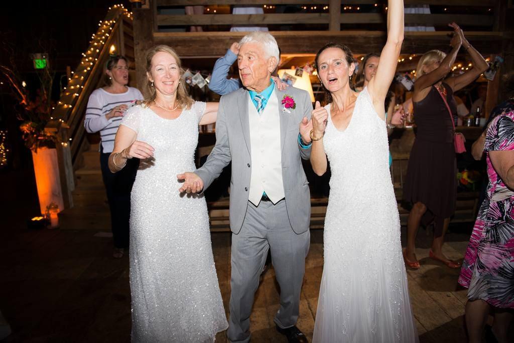 Brides celebrating