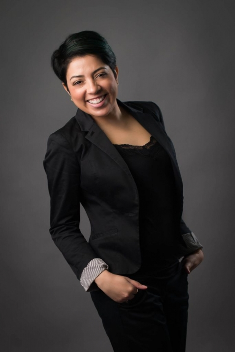 Young professional woman smiling