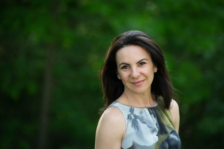 Business woman portrait outdoors