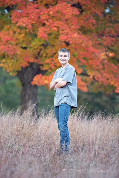 teen fall portrait