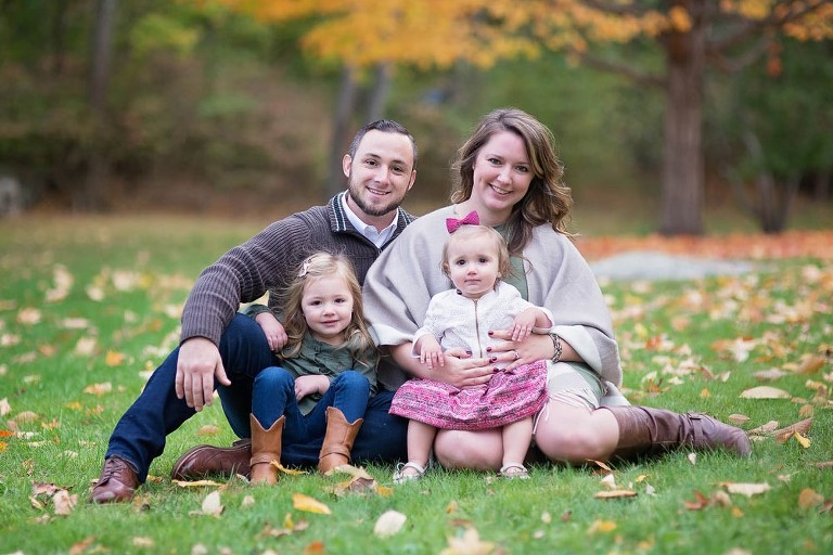 Family fall portrait in chelmsford