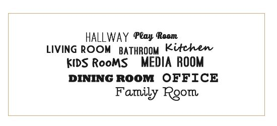 list of rooms in a house